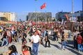 Akm building taksim square istanbul jun violence sparked by plans to build on the gezi park have broadened into nationwide anti Royalty Free Stock Photography