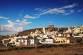 Akrotiri village in the morning light, Santorini island Royalty Free Stock Photo