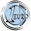 Akta euro ikony wektora Zdjęcie Royalty Free