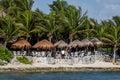 Akumal beach in Quintana Roo, Yucatan, Mexico Royalty Free Stock Photo