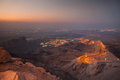 Al ain view to uae from jebel hafeet mountain just after sunset Royalty Free Stock Images