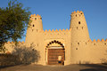 Al jahili fort entrance to the picturesque aka jahli one of the most historic buildings in the uae it was erected in to Stock Images