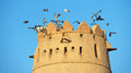 Al jahili fort a tower at aka jahli one of the uae's most historic buildings it was erected in to defend the town of Stock Image