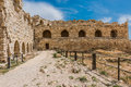 Al Karak kerak crusader castle fortress Jordan Royalty Free Stock Photo
