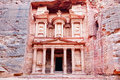 Al khazneh most famous tomb in petra jordan Royalty Free Stock Photography