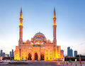 Al-Noor mosque, Sharjah, UAE Royalty Free Stock Photo