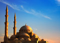 Al Noor Mosque st sunset Royalty Free Stock Photos