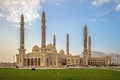 Al saleh mosque in sanaa yemen beautiful Stock Photo