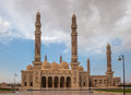 Al saleh mosque in sanaa yemen beautiful Stock Image