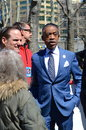 Al sharpton political activist host politics nation msnbc aids awareness rally brooklyn april Stock Photo