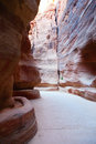 Al siq narrow canyon leading to petra in jordan Stock Images
