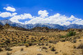 Alabama Hills rock formation, Sierra Nevada Royalty Free Stock Photo