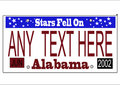 Alabama state license plate vector Royalty Free Stock Image