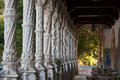 Alabaster columns in Serra do Bussaco Royalty Free Stock Photos