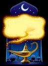 Aladdin λαμπτήρας το μαγικό s Στοκ φωτογραφία με δικαίωμα ελεύθερης χρήσης