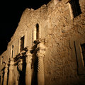 Alamo illuminated at night Stock Photo
