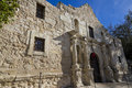 The alamo san antonio texas front entrance into chapel of in Stock Image