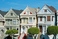 Alamo Square in San Francisco, Victorian houses Royalty Free Stock Images