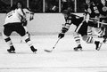 Alan sheppard boston bruins vintage forward image from b w negative Stock Photos