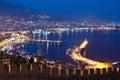 Alanya at night Royalty Free Stock Photo