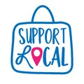 Support local - shop small business, buy family business . Royalty Free Stock Photo
