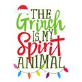 The Grinch is my spirit animal Royalty Free Stock Photo