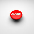 Alarm button in red d rendered Royalty Free Stock Photography