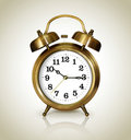 Alarm clock, antique gold Stock Photos