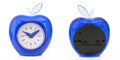 Alarm clock with apple shape Royalty Free Stock Images