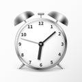 Alarm clock with bells, ringing timer vector illustration