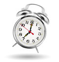 Alarm clock classical ringing on white background Stock Photo