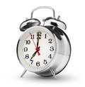 Alarm clock classical on white background Stock Images