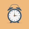 Alarm clock in a flat design. Vector illustration