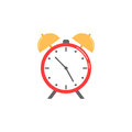 Alarm clock flat icon, school and office element