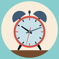 Alarm clock flat vector illustration Royalty Free Stock Photo