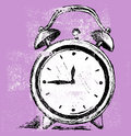 Alarm clock grunge style vector Royalty Free Stock Image