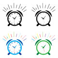 Alarm clock illustration of on white background Royalty Free Stock Photography