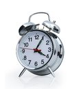 Alarm clock isolated on the white background Stock Photo