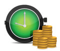 Alarm clock and money Royalty Free Stock Photo