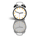 Alarm clock with money symbol face white background Royalty Free Stock Image