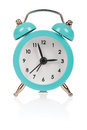 Alarm clock old fashioned on white background Royalty Free Stock Photos