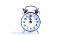 Alarm clock ordinary metal on white background clipping path is included Royalty Free Stock Photo