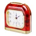 Alarm clock quartz isolated on white background Royalty Free Stock Photos