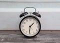 alarm clock in retro style Royalty Free Stock Photo