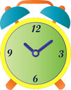 Alarm clock a retro styled colourful Royalty Free Stock Photography