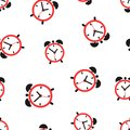Alarm clock seamless pattern background icon. Business flat vect Royalty Free Stock Photo