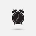 Alarm clock showing seven am