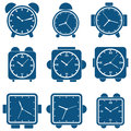 Alarm clock vector set Royalty Free Stock Images