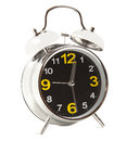 Alarm clock on the white background Stock Images