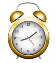 Alarm clock yellow vector illustration Stock Photography